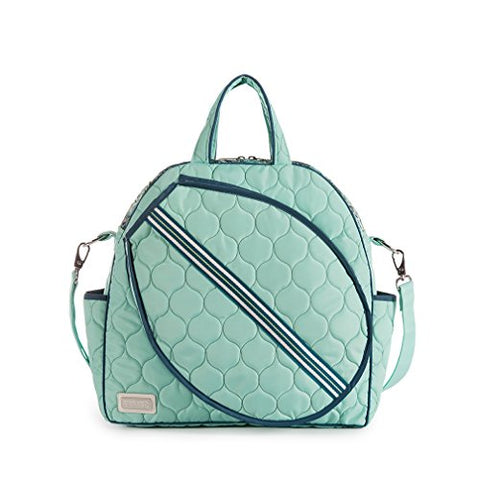 Cinda B. Tennis Tote, Purely Peacock