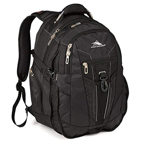 High Sierra XBT Business Laptop Backpack - 17-inch Laptop Backpack for Men or Women, Black