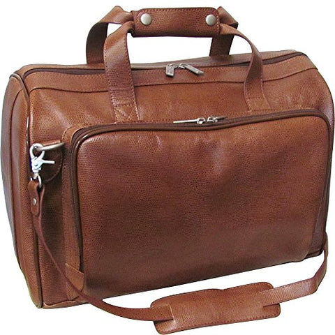 "Amerileather 18"" Leather Carry On Weekend Duffel,Brown,US"