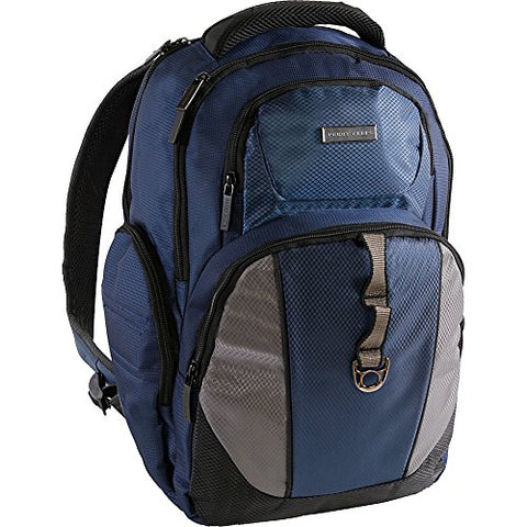 Perry Ellis Men'S P19 Business Tablet Pocket Laptop Backpack, Navy, One Size