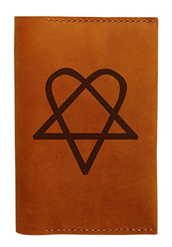 Him Heartagram Handmade Genuine Leather Passport Holder Case Hlt_01