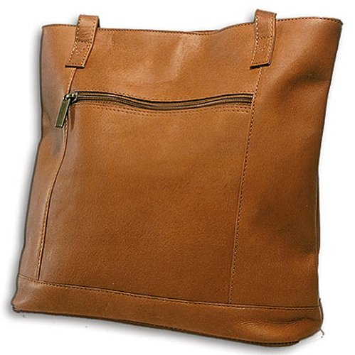 David King & Co. Shopper with Front Zip Pocket 1065, Tan, One Size