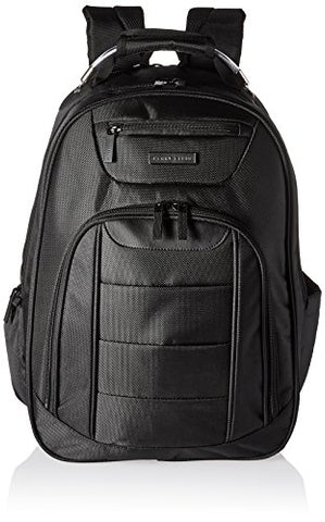 Perry Ellis Men'S M327 Business Tablet Compartment Laptop Backpack, Black, One Size