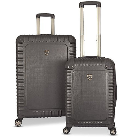 Gabbiano The Armor Collection Hardside 2-Piece Spinner Luggage Set (Dark Grey)