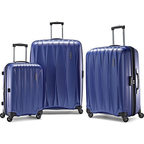 "American Tourister Arona Premium Hardside Spinner 3Pcs Luggage Set 20"" 25"" 29"" (Blue) - 73075-1090"