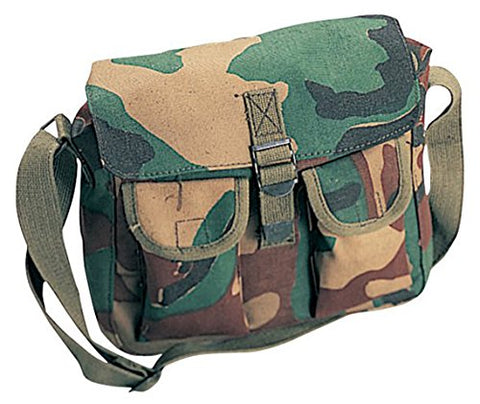 Rothco Canvas Ammo Shoulder Bag, Woodland Camo