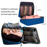 BAGAIL Packing Cubes System 7-Pcs Travel Organizer Accessories for Carry On Luggage with Shoe Bag & Toiletry Bags Dark Blue