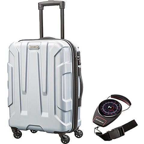 "Samsonite 92794-1776 Centric Hardside 20"" Carry-On Luggage, Silver With Portable Luggage Scale"