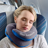 BCOZZY Chin Supporting Patented Travel Pillow - Prevents The Head from Falling Forward in Any Sitting Position, Providing Comfort and Support for The Neck and Head. Adult Size (Gray)