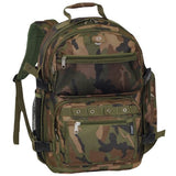 Everest Oversize Woodland Camo Backpack, Camouflage, One Size