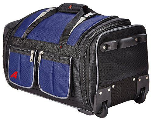 "Athalon 29"" 15 Pocket Duffel Navy Rolling, One Size"
