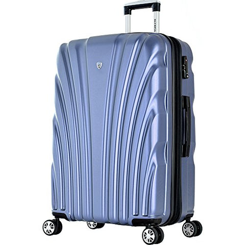 "Olympia USA Vortex 29"" Expandable Hardside Checked Spinner Luggage (Icy Blue)"