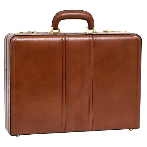 McKleinUSA COUGHLIN 80464 Brown Leather Expandable Attache Case