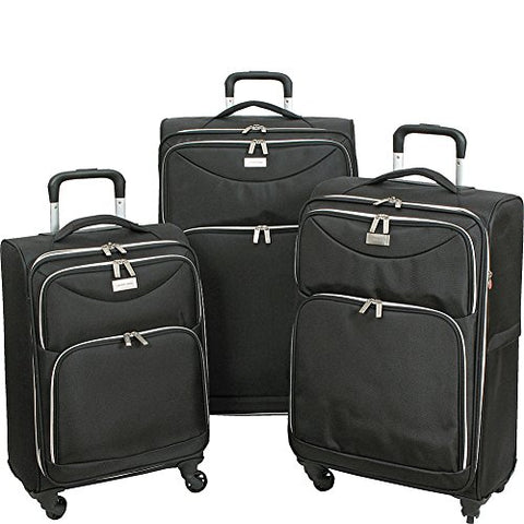 Geoffrey Beene Ultra Light-Weight Midnight, 3 Piece Set, Black