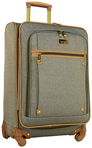 "Nicole Miller New York Taylor 24"" Expandable Spinner Suitcase (Green)"