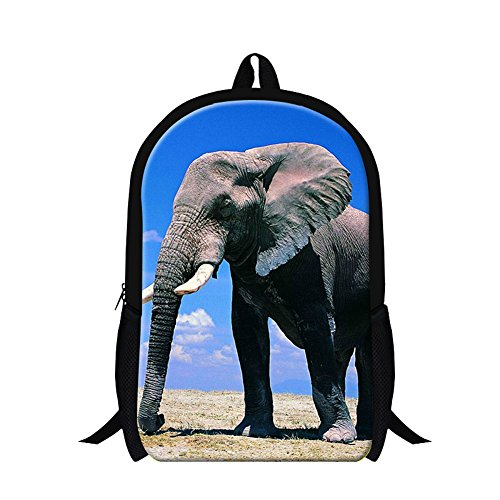 CrazyTravel Elephant Print Kids School Back Pack Book Bags 16 Inch