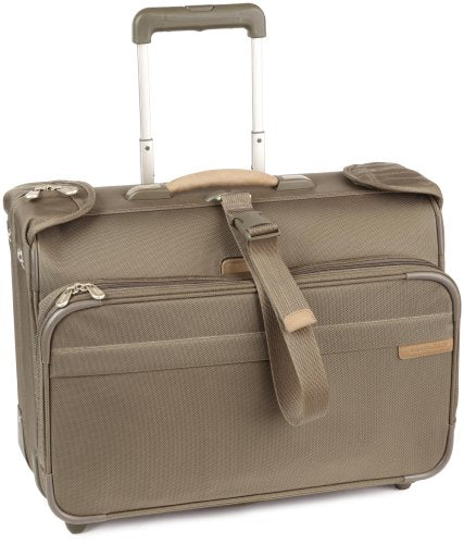 Briggs & Riley Carry-On Wheeled Garment Bag,Olive,14X21X8.5