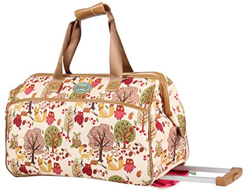 "Lily Bloom 20"" Wheeled Duffel (Forest Owl)"