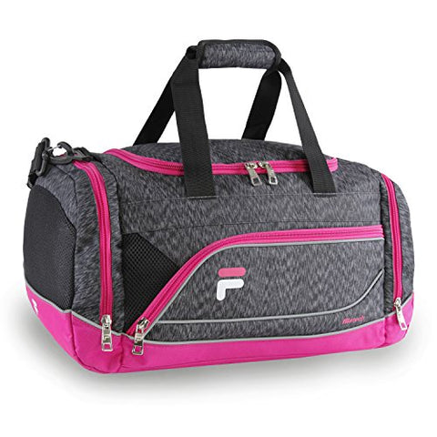 Fila Sprinter Small Duffel Sports Gym Bag, Static Pink, One Size