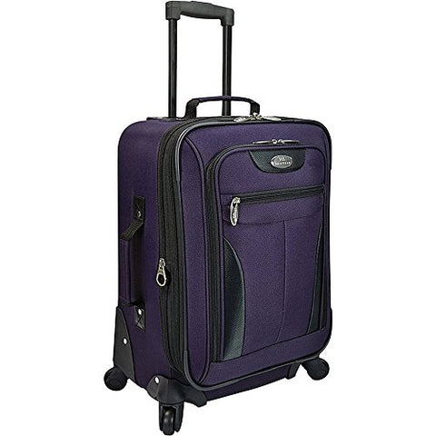 U.S. Traveler Charleville 20 Inch Spinner Luggage (Purple)