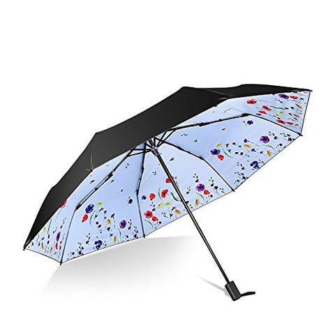 HOMEE Foldable rain and rain umbrella creative sunscreen uv sun umbrella vinyl umbrella (color
