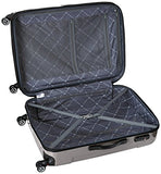 "Traveler's Choice Sedona 8-Wheels Polycarbonate Hardside Expandable Spinner 3-Piece Luggage Set, Pewter (21""/25""/29"")"