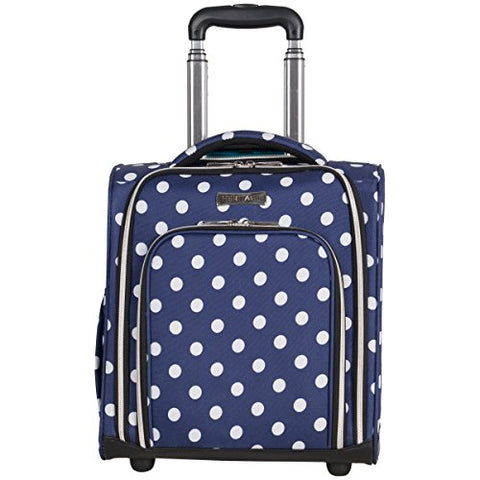 "Heritage Travelware Albany Park 16"" 600d Polka Dot Polyester 2-Wheel Underseater Carry-on"
