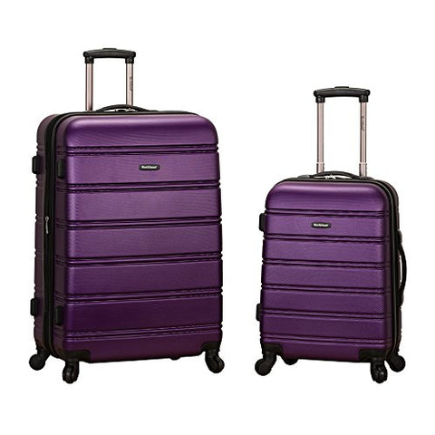 Rockland Luggage 20 Inch And 28 Inch 2 Piece Expandable Spinner Set, Purple