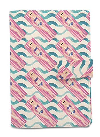 Swiming Pool Beige Printed Canvas Vintage Passport Holder Cover Case Was_11