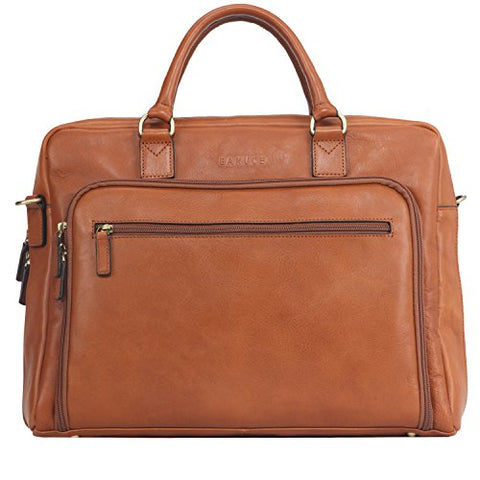"Banuce Vintage Full Grain Italian Leather Briefcase for Men Business Tote Attache Case 14"" Laptop"