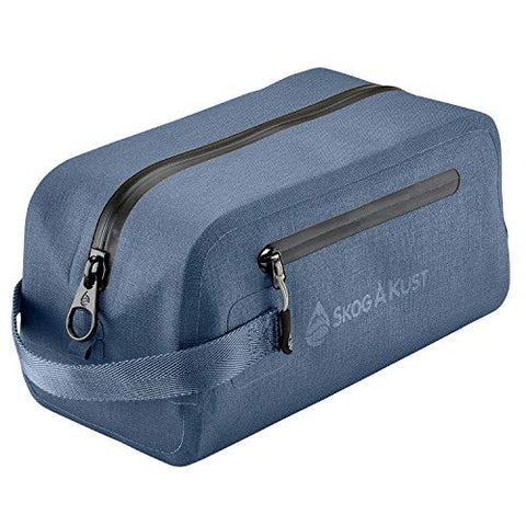 DoppSåk Waterproof & Leak-proof Travel Toiletry Bag (Small, Midnight Blue)
