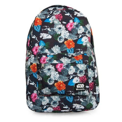 Loungefly Star Wars Floral Print Laptop Backpack (Multi Colored)