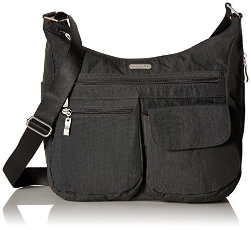 Baggallini Everywhere Travel Crossbody Bag, Charcoal, One Size