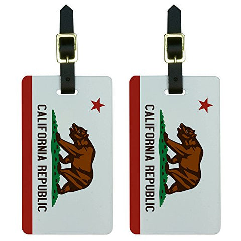 Graphics & More California Republic Flag Luggage Tags Suitcase Carry-On Id, White
