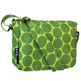 Wildkin Big Dots Kickstart Messenger Bag, Green