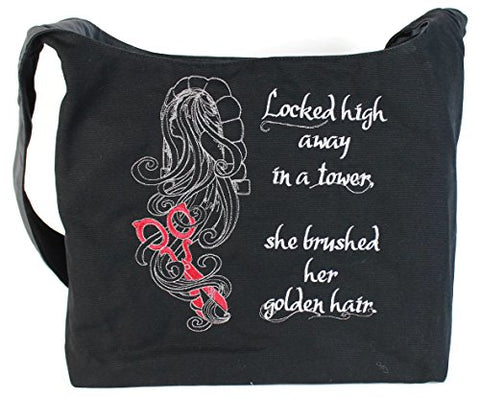 Dancing Participle Rapunzel Embroidered Sling Bag