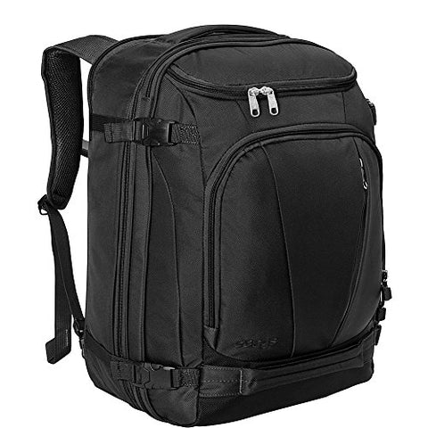 "eBags TLS Mother Lode Weekender Junior 19"" Carry-On Travel Backpack - Fits Up to 17.5"" Laptop - (Solid Black)"