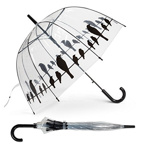 Abbott Collection 27-Hitchcock Bubble Umbrella with Birds