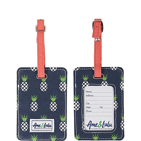 Ame & Lulu Tag Along Luggage Tag (Pineapple)