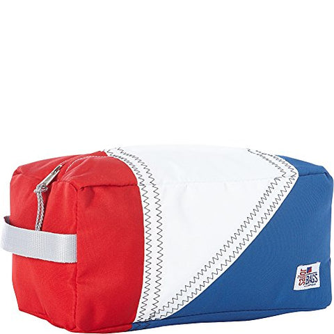 Sailor Bags Tri-Sail Toiletries Kit, One Size, Red/White/Blue