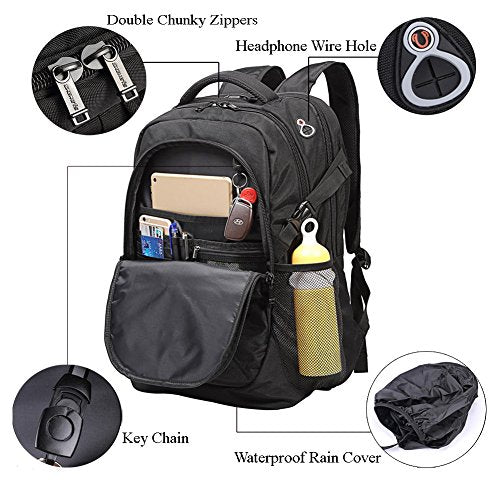 09c3be7ec769 Backpack For Laptops Up To 18.4 Inch Hiking Backpack Water Resistant Travel  Backpack Shockproof