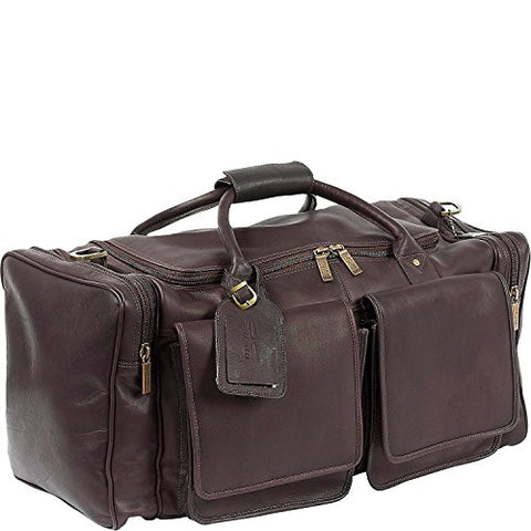 Claire Chase Distressed Hampton Leather Duffel Bag In Cafe