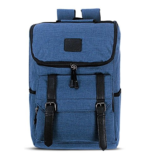 Laptop Outdoor Backpack Travel Hiking Rucksack Camping Knapsack Shoulder Schoolbag Blue