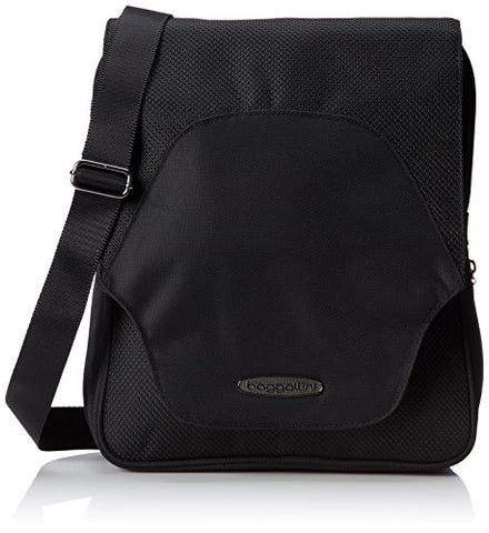 Baggallini Accord Crossbody Messenger Travel Bag with Organizational Pockets, Black, One Size