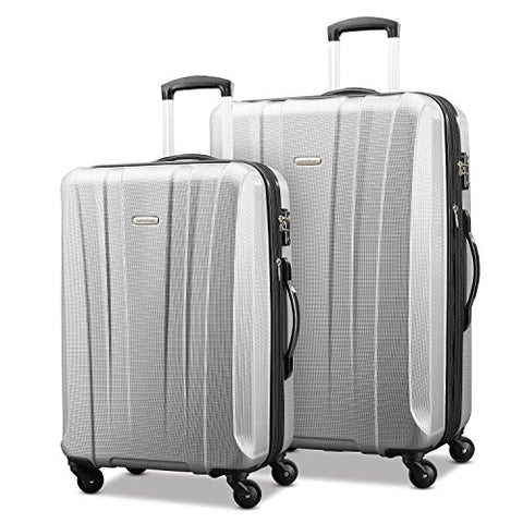 "Samsonite Pulse Dlx Lightweight 2 Piece Hardside Set (20""/28""), Silver, Exclusive to Amazon"