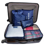 7 Set Travel Cubes,5 Colors Waterproof Mesh Durable Luggage Packing Organizers,1 Travel Shoe