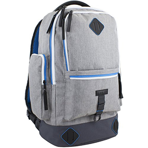 Fuel High Capacity Lifestyle Backpack with High Density Foam Straps, Gray Chambray/Black