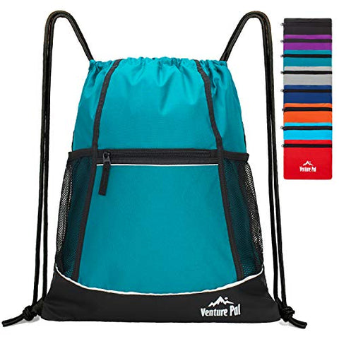 Venture Pal Packable Sport Gym Drawstring Sackpack Backpack Bag with Wet Pocket for