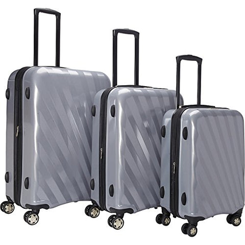The Set Of Classic Silver A747 Exp 3Pc Luggage Set
