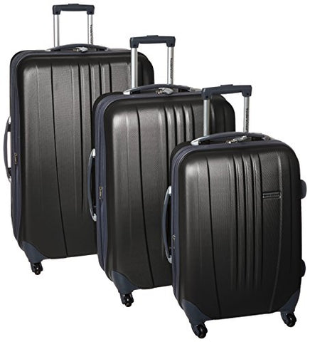 "Traveler'S Choice Toronto 3-Piece Lightweight Expandable Spinner Set, Black (21""/25""/29"")"